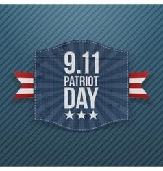 Eleventh september patriot day national emblem vector