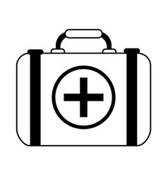 First aid kit healthcare icon image vector