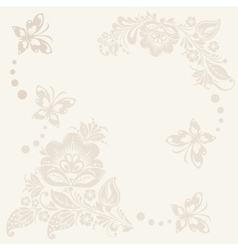 floral rustic wedding cards beautiful vector image vector image