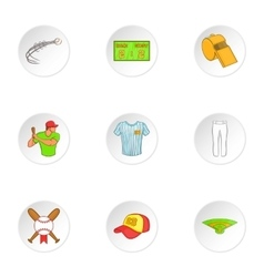Game with bat icons set cartoon style vector image vector image