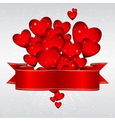 glowing hearts Background vector image vector image