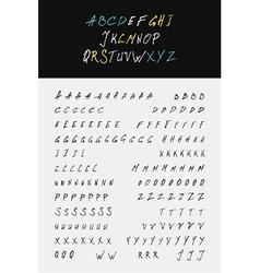 Hand lettering calligraphic alphabet vector