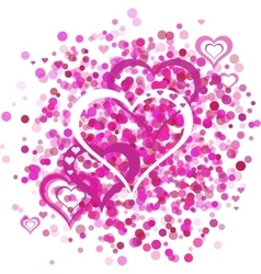 Heart bacground vector