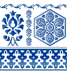 Islamic design elements vector