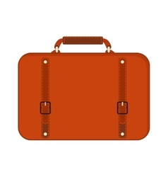 Journey suitcase travel red fashion bag trip vector
