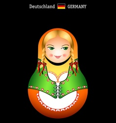 Matryoshka german girl vector