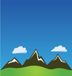 Mountain clouds background vector