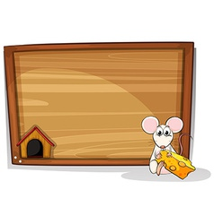 Mouse and cheese vector image vector image