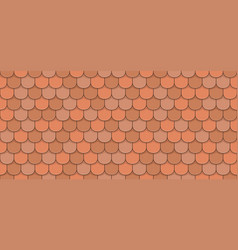 Orange roof tiles vector