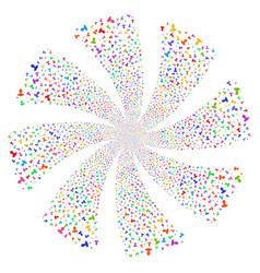 Person fireworks swirl flower vector