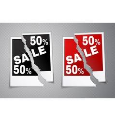 Photo discounts torn in half vector
