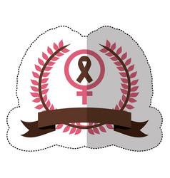 Pink symbol breast cancer ribbon image vector