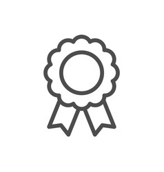 quality badge line icon vector image