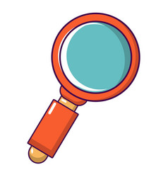retro magnifying glass icon cartoon style vector image