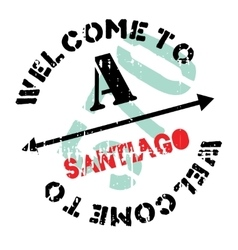 Santiago stamp rubber grunge vector