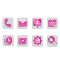 Set-de-iconos vector image vector image