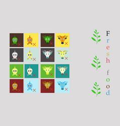 set of butchery logo templates farm animals vector image