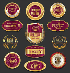 set of retro vintage laurel wreaths and badges vector image vector image