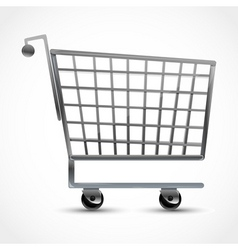 shopping trolley vector image vector image