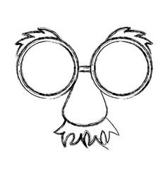 sketch draw party mask cartoon vector image vector image