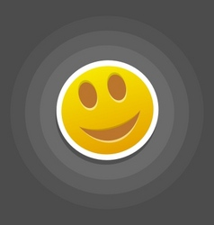 smile emotion vector image