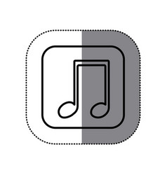 symbol play music icon vector image vector image