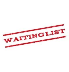 Waiting List Watermark Stamp vector image vector image