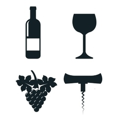 wine concept set icons isolated icon design vector image vector image
