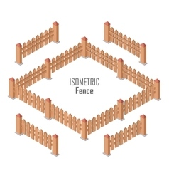 Wooden Fence In Isometric Projection vector image vector image