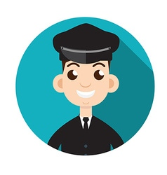 Limo driver limousine driver icon flat style vector
