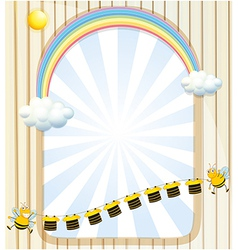 An empty space with bees and stripe shirts vector