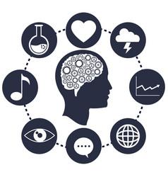 Head brain gears progress network vector