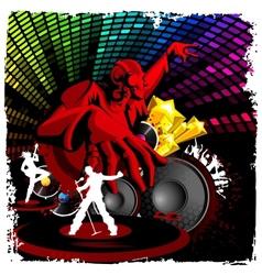 Disco Jockey playing Music vector image