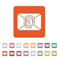 The email icon mail symbol vector