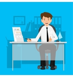 Businessman manager consultant at work vector