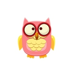 Cross-eyed Pink Owl vector image