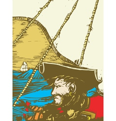 Blackbeard the pirate vector