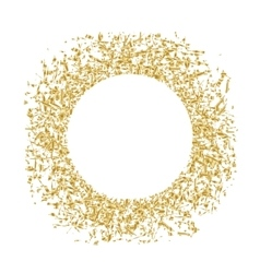 Golden sequins are scattered on a white background vector