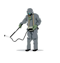 Bio hazard protection cartoon vector