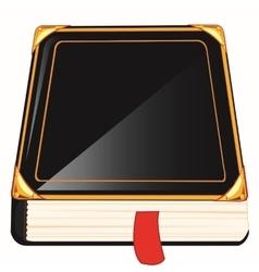 Blackenning book vector image
