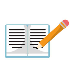 Book pencil study work icon vector