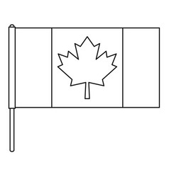 canada flag icon outline style vector image vector image