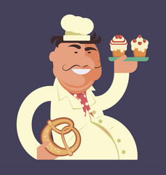 cartoon character chef vector image