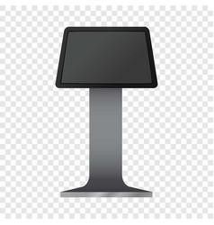 Digital touchscreen terminal mockup vector
