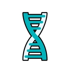 Dna science atom biology icon graphic vector