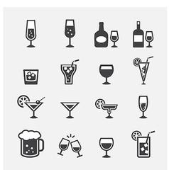 drink icon set vector image vector image