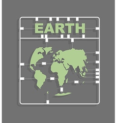 Earth Plastic model kit Continents World map vector image vector image