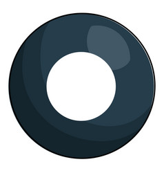Eight ball billiard icon vector