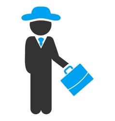 Fellow manager icon vector