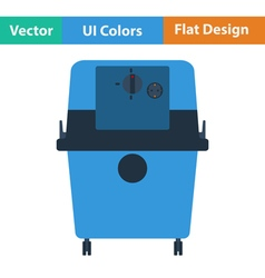 Flat design icon of vacuum cleaner vector